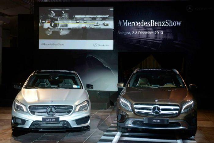 Mercedes-Benz GLA e CLA 45 AMG: dinamismo e avanguardia di scena al #MercedesBenzShow di Bologna