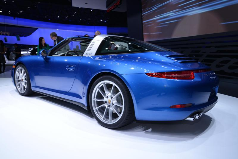 Porsche 911 Targa 4: le foto live da Detroit 2014