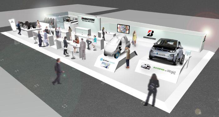 Ginevra 2014: lo stand Bridgestone strizza l'occhio al futuro