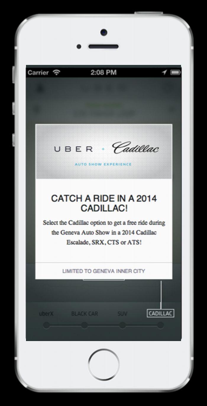 Cadillac e Uber fanno team al salone di Ginevra