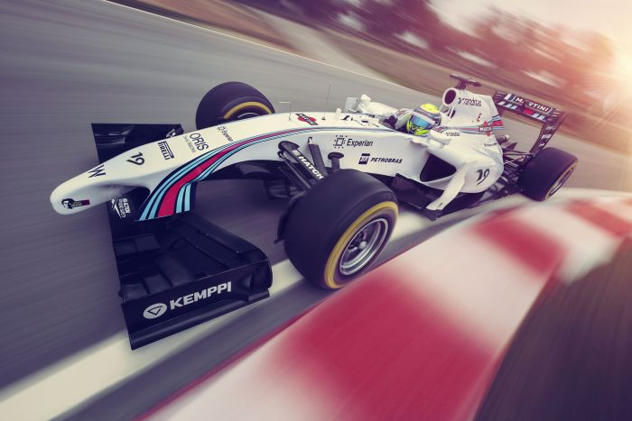 Williams Mercedes FW36 Martini Racing 3