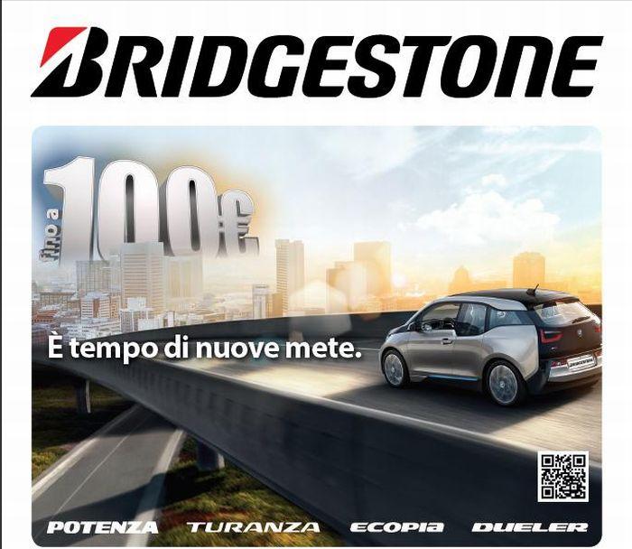 Pneumatici estivi: scegli Bridgestone, ottieni il rimborso e partecipa all'estrazione della BMW i3