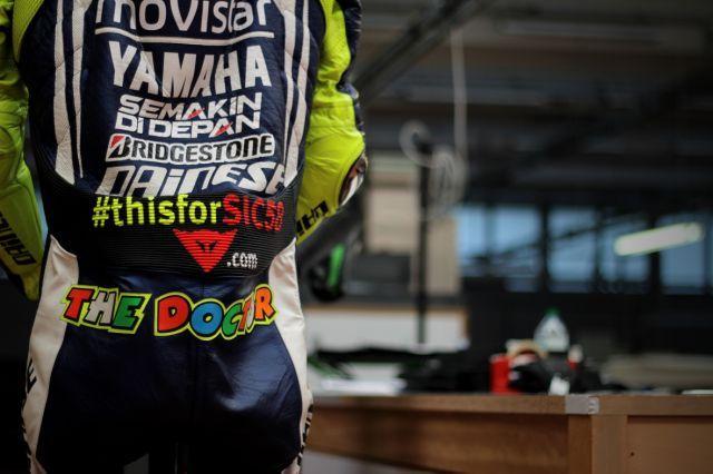 #thisforSIC58: Dainese e Valentino Rossi per ricordare Marco Simoncelli al Mugello