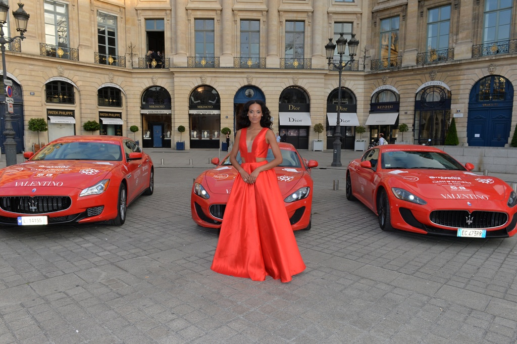 Six red Maserati joined 70 high-profile inspirational women on this year's Cash & Rocket Tour
