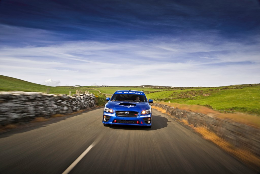 Subaru WRX STI 2015 at Isle of Man TT: new lap record