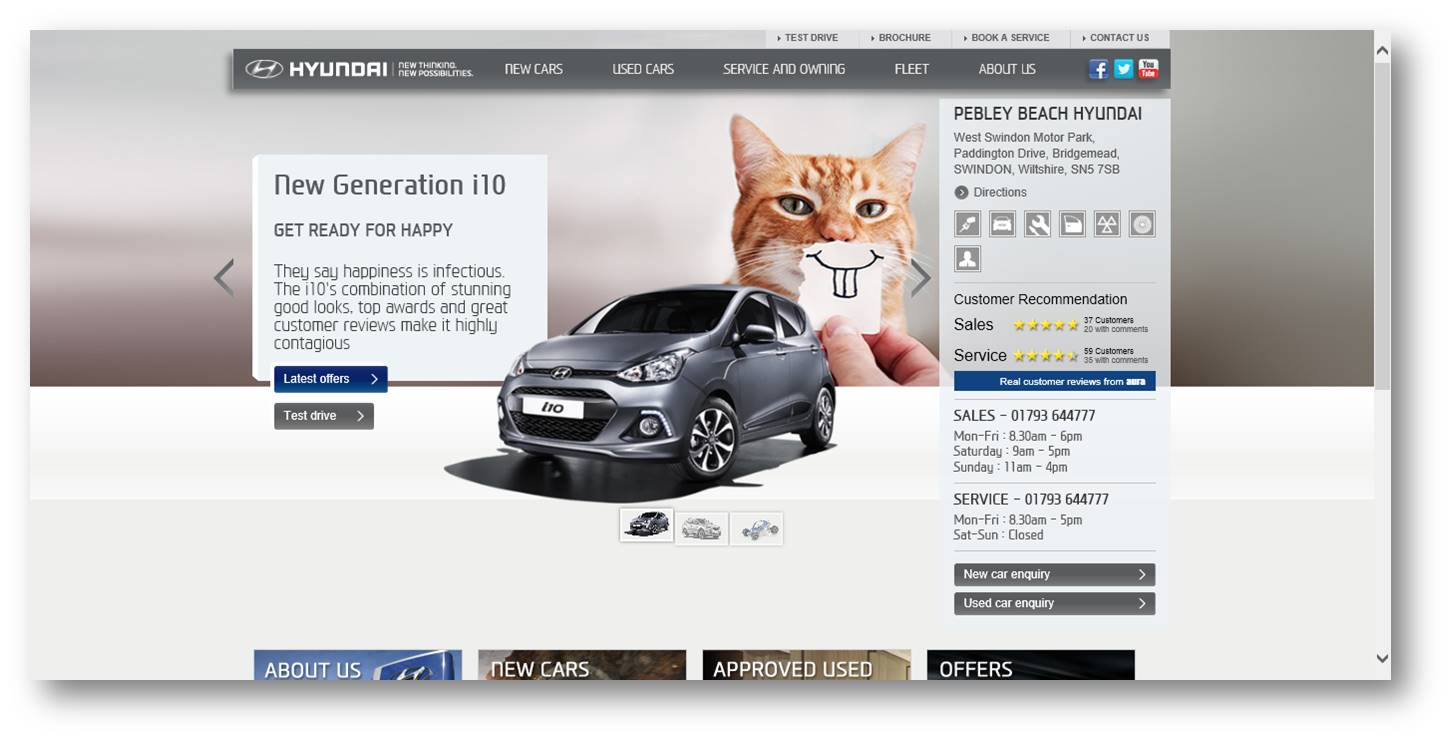 Customer Satisfaction: Hyundai UK to introduce online user-generated star ratings across the Dealer Network