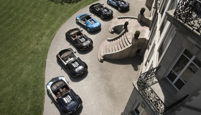 One-off presentation of all six Bugatti Legends at the Monterey Car Week