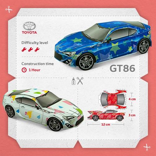 Auto di carta: i papercraft dei principali modelli Toyota