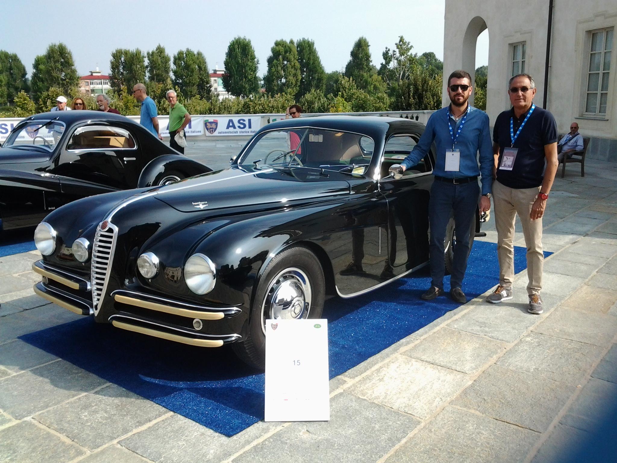 """L'Alfa Romeo 6 C 2500 SS Carrozzeria Touring, vince il """"Concorso Nazionale di Eleganza per automobili"""""""