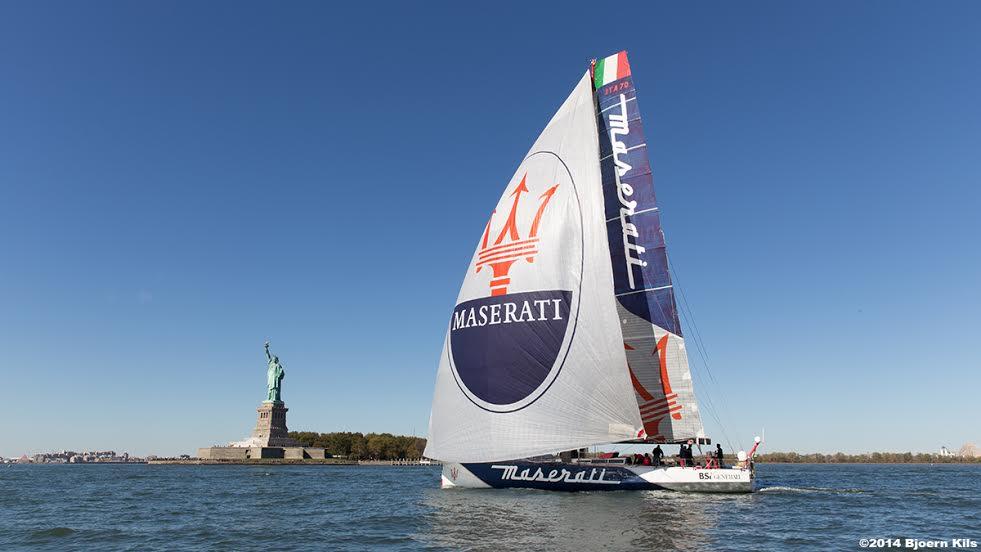Maserati partita nella notte per tentare di battere il record NY-Lizard Point 2