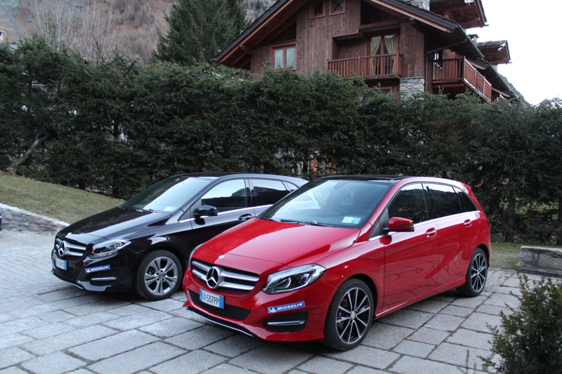 Nuova Mercedes Classe B - Michelin Winter Test-Drive 0108