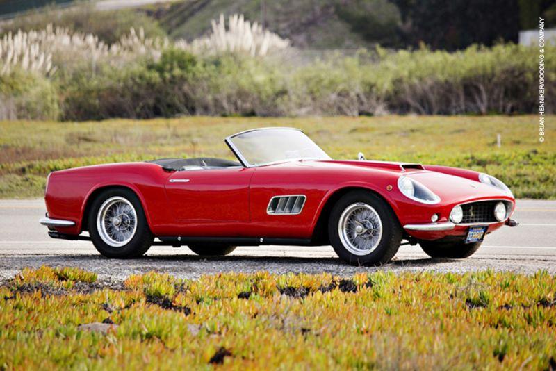 Pagati 7,7 milioni per una Ferrari 250 GT California Spider del 1959