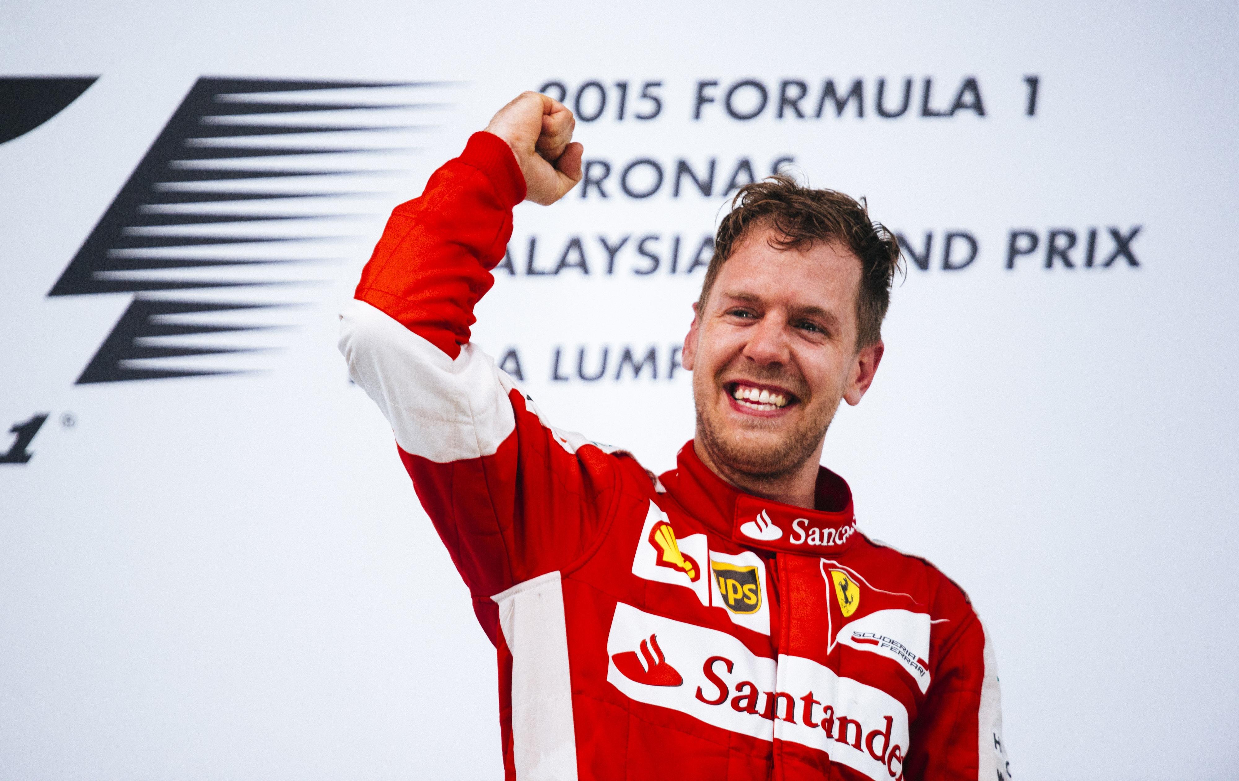 Sebastian Vettel su Ferrari vince il Gran Premio della Malesia