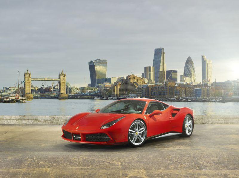 La Ferrari 488 GTB protagonista a Londra