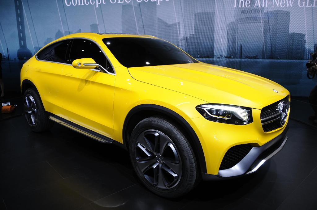 Mercedes-Benz GLC Coupé: le immagini live da Shanghai