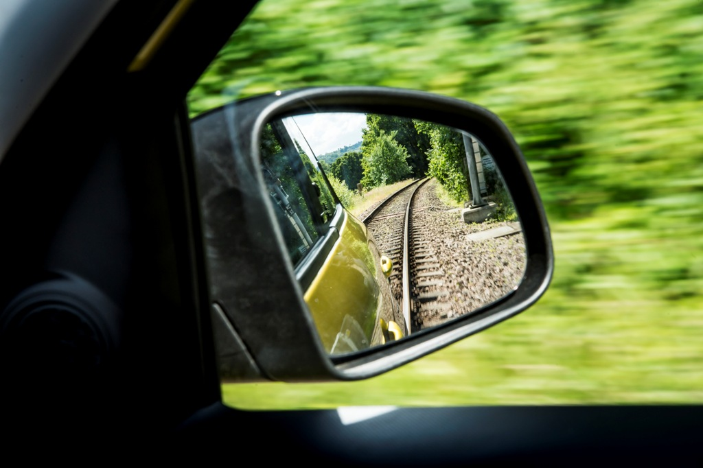 Smart ForRail at the Bluebell Railway, Sussex, 22 June 2015 Mercedes-Benz Smart Car. Train Photo: James Lipman / jameslipman.com