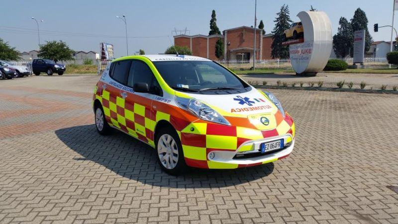 """Mobilità a zero emissioni: la prima Nissan LEAF """"Automedica"""" in provincia di Alessandria"""