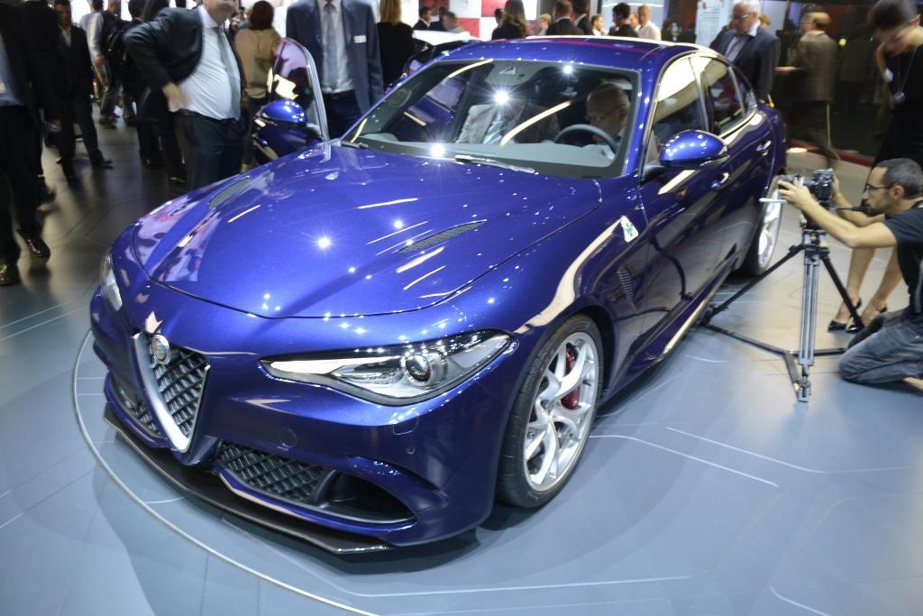 Alfa Romeo Giulia Quadrifoglio al Salone di Francoforte 2015