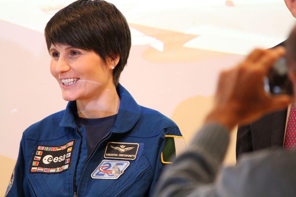 Con Samantha Cristoforetti, astronauta dell'Agenzia Spaziale Europea (ESA), al MUSE di Trento