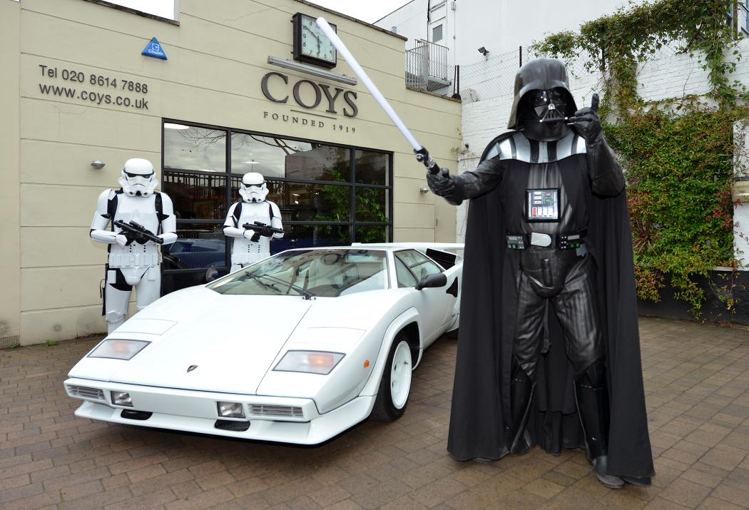 A 1984 Lamborghini Countach 5000 S and one of the rarest Star Wars posters ever produced will hit the red carpet at the auction 1