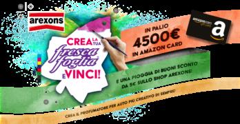 Arexons scatena la creatività dei consumatori e li premia con Amazon Gift Card
