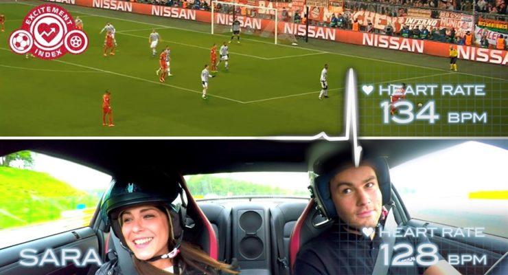 Calcio vs auto sportive: un esperimento scientifico per misurare le emozioni