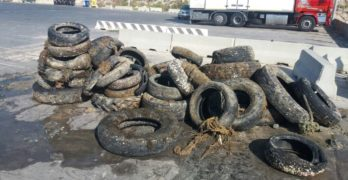Raccolta straordinaria di gomme giunte a fine vita a Lampedusa