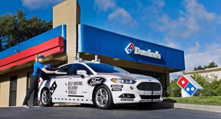 Domino's Pizza e Ford: consegne delle pizze con auto a guida autonoma