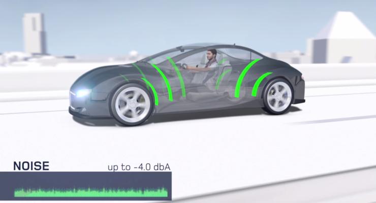 Minore rumorosità degli pneumatici grazia alla tecnologia Noise Shield